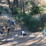 Volunteers removing litter at Discovery Canyon