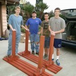 Boy Scouts from Troop 816 who helped to paint and construct the benches.