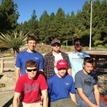 Boy Scouts from Troop 816 who helped Kevin with the project.