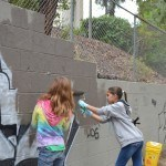 Painting over graffiti